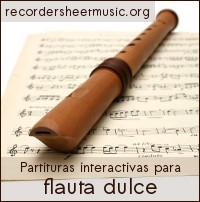 Partituras interactivas para flauta dulce